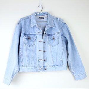 VTG 90s Light Wash Denim Jacket BILL BLASS Jeans